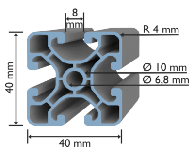 ISP 40x40 UL Nut 8