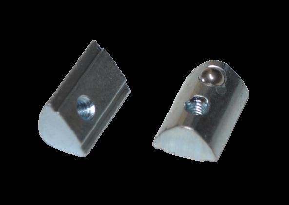 Nutenstein Nut 8 M4 mit Steg