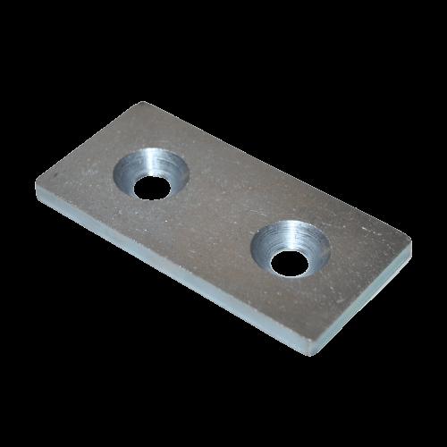 Verbinderplatte Nut 8 40x80 mm